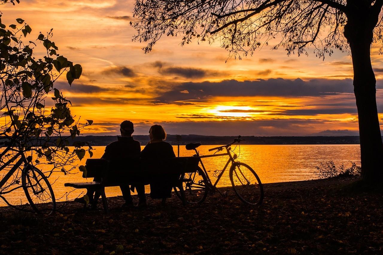Velokette-Sonnenuntergang
