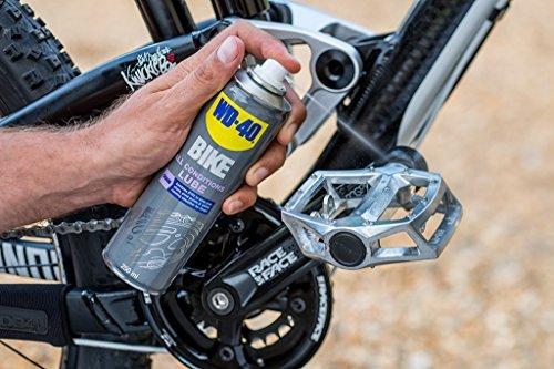 Reinigung Fahrrad Fahrradkette WD-40 Bike Kettenspray Allwetter 250 ml, transparent, 49703 - 4