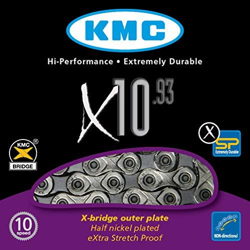 Fahrradkette KMC X 10 – 93, silber/ grau -