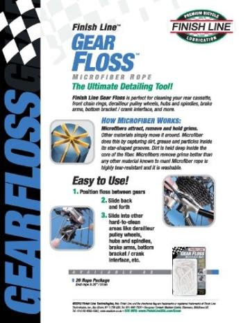 Finish Line Reinigungsfäden Gear Floss -