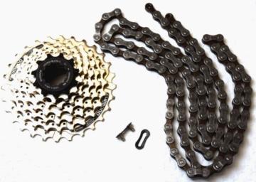 Fahrrad Kette/Kassette Set 21 Gang Shimano HG40/HG41 -