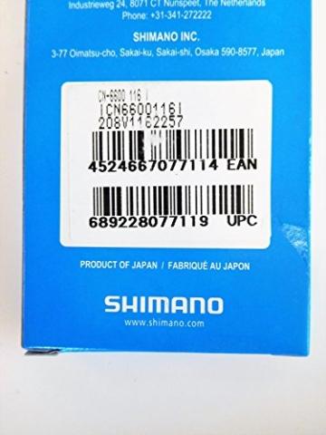 Shimano Kette Ultegra CN-6600 10-fach für 3-fach Kurbeln, I-CN6600116I -