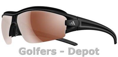 Adidas Brille a167 evil eye halfrim pro L matt black 6072 LST Polarized