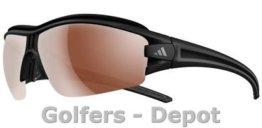 Adidas Brille a168 evil eye halfrim pro S matt black 6072 LST Polarized