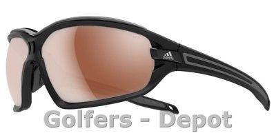 Adidas Brille a193 Evil Eye EVO Pro L black matt grey 6055 LST Polarized silver