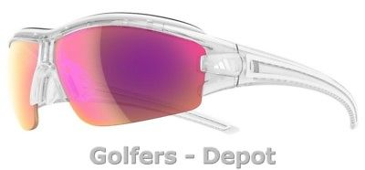 Adidas Brille a199 evil eye halfrim pro XS crystal shiny 6097 LST Bright VARIO