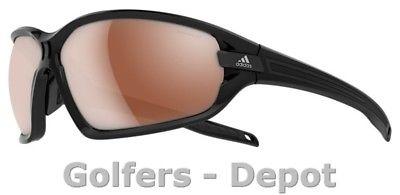 Adidas Brille a419 Evil Eye EVO S black shiny black 6054 LST Polarized silver