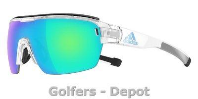 Adidas Brille ad05 ZONYK AERO Pro Large crystal shiny 1100 blue mirror