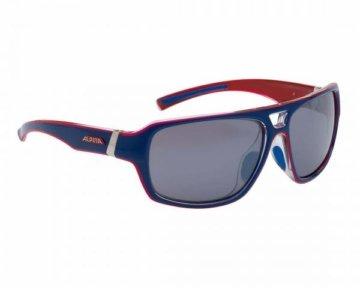 Alpina Yuko Sports Style Brille | blue-red transparent