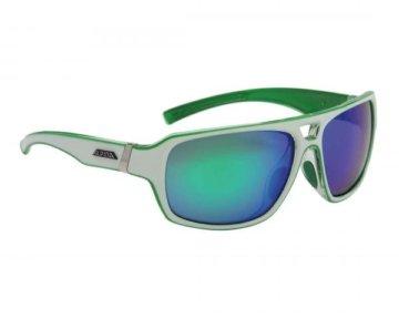 Alpina Yuko Sports Style Brille | white-green transparent