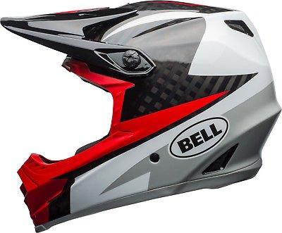 Bell Full-9 DH Fahrrad Helm weiß/schwarz/rot 2018