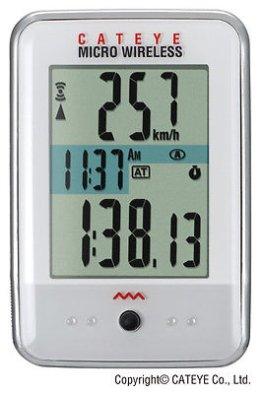 Cateye Fahrradcomputer Micro Wireless (Kabellos) Weiß Neu