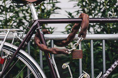 Design Fahrradschloss Dalman Supply Chain Braun Lock Kettenschloss Leder Bike