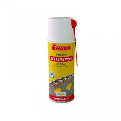 Enuma Kettenspray 12 x 400ml Dosen (EUR 29,16 / L) - Transparent mit Teflon