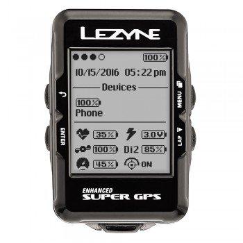 Lezyne Fahrradcomputer GPS Super schwarz
