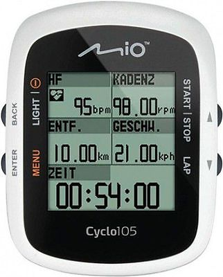 """MIO Fahrradcomputer """"Cyclo 105 HC"""", mit ANT+ Sensor, inkl. Brustgurt und Trittfr"""