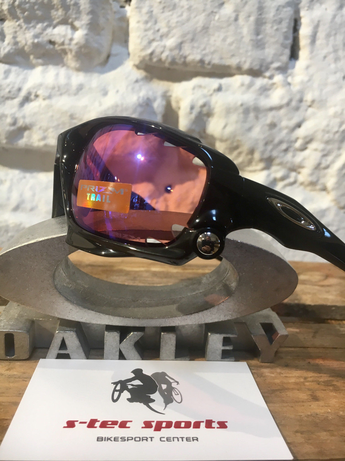 OAKLEY RACING JACKET PRIZM TRAIL polished black schwarz-clear Glas Brille 917133