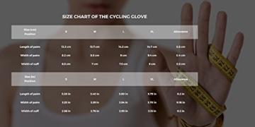 Radsport Handschuhe Herren und Damen, Fahrradhandschuhe für Rennrad, Mountainbike, Krafttraining, Fitness, Reiten, Crossfit, Bergsteigen, Sport -
