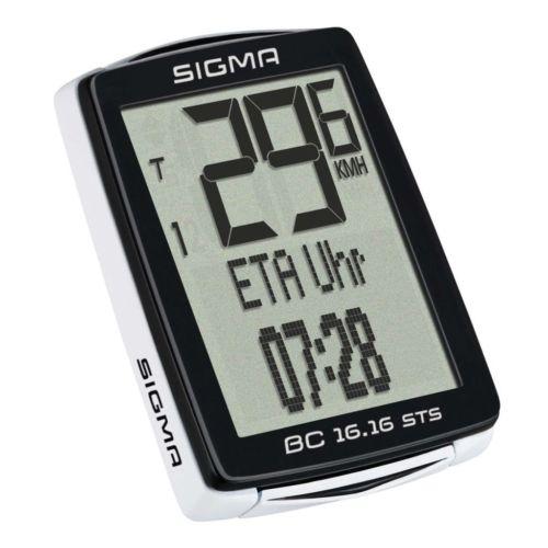 Sigma Fahrradcomputer Kilometerzähler Radcomputer Stoppuhr BC 16.16 STS CAD 1618