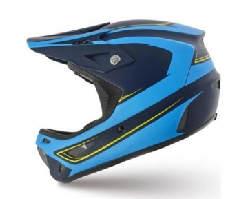 Specialized Dissident Comp DH Fullface Helm | Navy-Neon Blue Signal