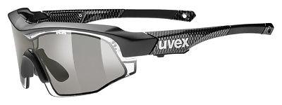 Uvex Variotronic S Fahrrad Brille schwarz/carbon