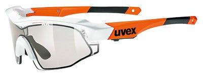 Uvex Variotronic S Fahrrad Brille weiß/orange