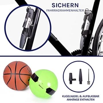 Fahrradluftpumpe Kleine Fahrradpumpe mit Druckanzeige -