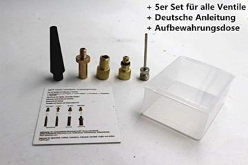 Fahrradventil 5er Ventil Adapter Set -