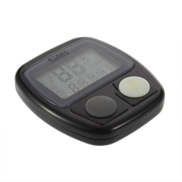 Fahrracomputer Qyoung Wasserdichtes, LCD Kilometerzähler Stoppuhr, 14 Funktionen mit Universal Sensorhalterung und Radmagnet, 46 * 46 * 15mm -