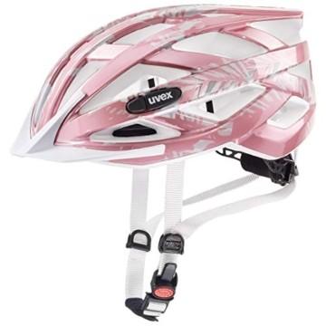Uvex 4144261815 Kinder air wing Fahrradhelm, rosa/weiß Gr. 52-57cm - 1
