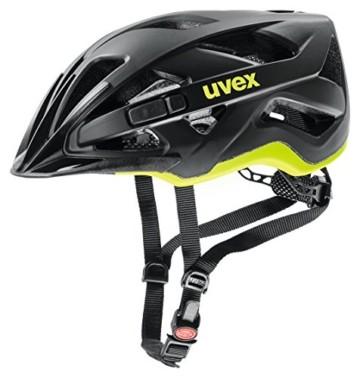 Uvex Unisex– Erwachsene, active cc Fahrradhelm, black-yellow mat, 56-60 cm - 1