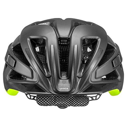 Uvex Unisex– Erwachsene, active cc Fahrradhelm, black-yellow mat, 56-60 cm - 2