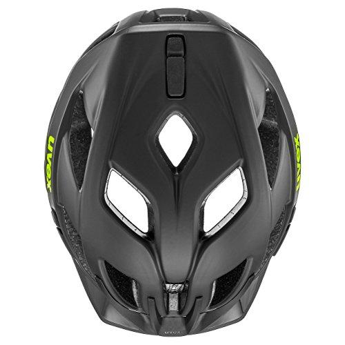 Uvex Unisex– Erwachsene, active cc Fahrradhelm, black-yellow mat, 56-60 cm - 5