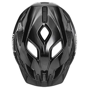 Uvex Unisex– Erwachsene Active Fahrradhelm, Black White, 52-57 cm - 4