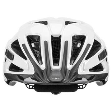 Uvex Unisex– Erwachsene, active Fahrradhelm, white black, 56-60 cm - 2