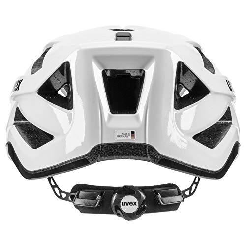 Uvex Unisex– Erwachsene, active Fahrradhelm, white black, 56-60 cm - 3