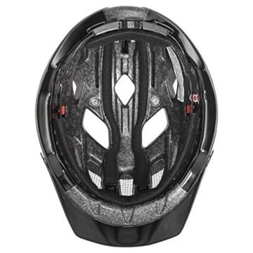 Uvex Unisex– Erwachsene, active Fahrradhelm, white black, 56-60 cm - 4