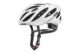Uvex Unisex– Erwachsene, boss race Fahrradhelm, white, 52-56 cm - 1