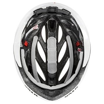 Uvex Unisex– Erwachsene, boss race Fahrradhelm, white, 52-56 cm - 4