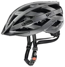 Uvex Unisex– Erwachsene, city i-vo Fahrradhelm, dark silver mat, 52-57 cm - 1