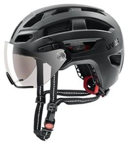 Uvex Unisex– Erwachsene, finale visor Fahrradhelm, black mat, 56-61 cm - 1