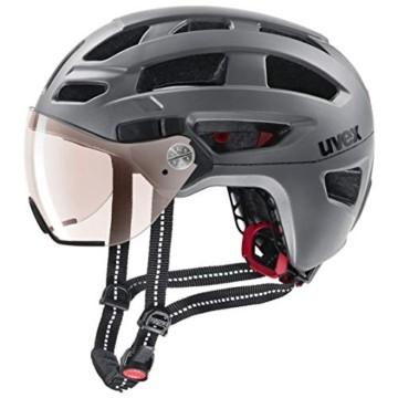 Uvex Unisex– Erwachsene, finale visor vario Fahrradhelm, strato steel, 56-61 cm - 1