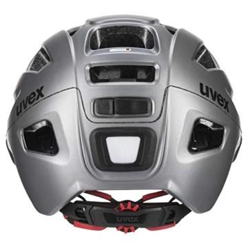 Uvex Unisex– Erwachsene, finale visor vario Fahrradhelm, strato steel, 56-61 cm - 2