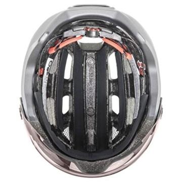 Uvex Unisex– Erwachsene, finale visor vario Fahrradhelm, strato steel, 56-61 cm - 3