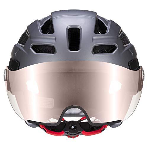 Uvex Unisex– Erwachsene, finale visor vario Fahrradhelm, strato steel, 56-61 cm - 4