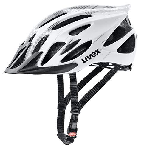 Uvex Unisex– Erwachsene Flash Radhelm, white black, 53-56 - 1