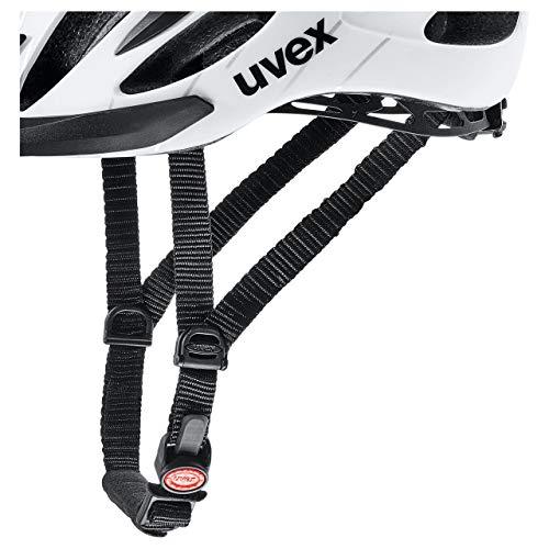 Uvex Unisex– Erwachsene Flash Radhelm, white black, 53-56 - 2