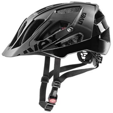 Uvex Unisex– Erwachsene, quatro Fahrradhelm, black mat, 52-57 cm - 1