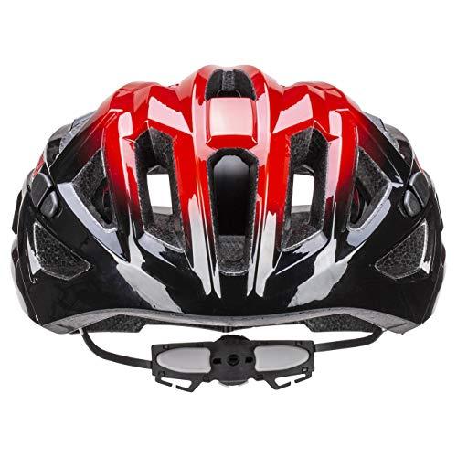 Uvex Unisex– Erwachsene, race 7 Fahrradhelm, black red, 51-55 cm - 2