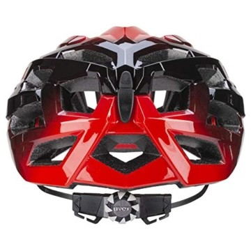 Uvex Unisex– Erwachsene, race 7 Fahrradhelm, black red, 51-55 cm - 3